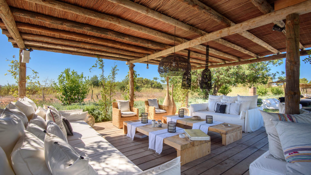 Lights Sitting Area Exterior Amigos Los Villa Ibiza
