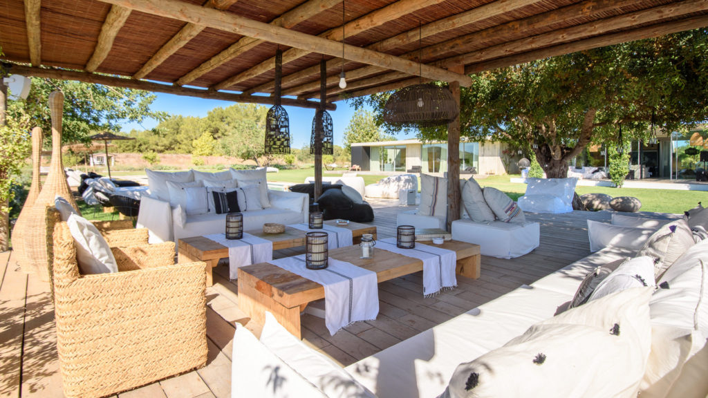 Lights Villa Ibiza Sitting Area Exterior Amigos Los