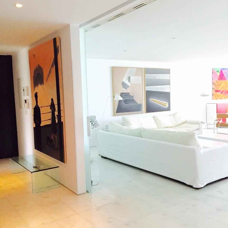 Living Area Art Style White Modern Sleek Ibiza Villa
