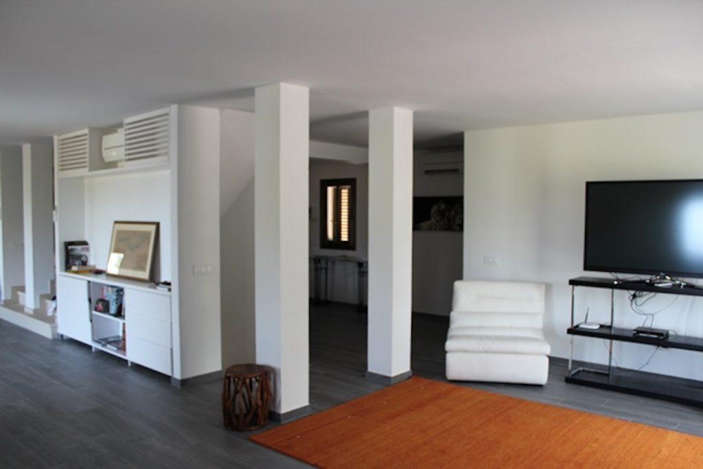 Living Area White Chic Minimal Ibiza Villa