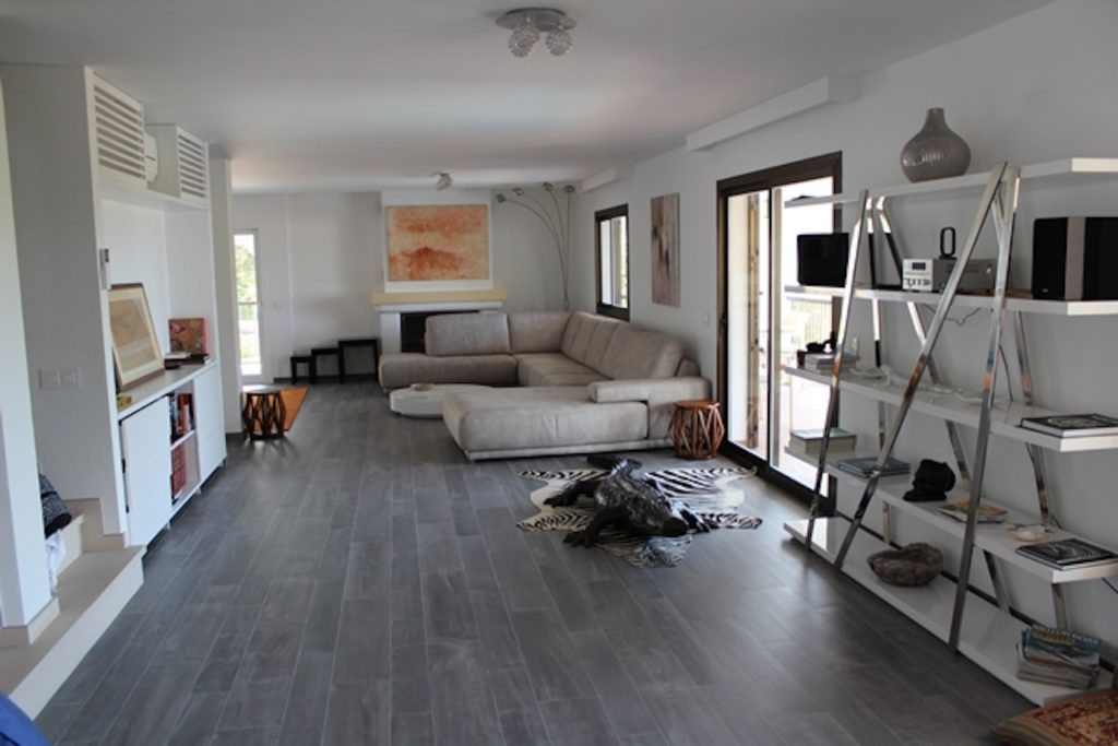 Living Room Book Shelf Ibiza Villa Modern Art Chic