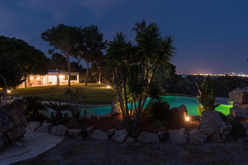 Luxury Evening Exterior Pool Villa Ibiza Gorgeous