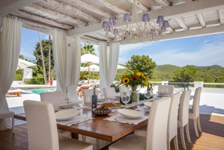Luxury Family Villas Ibiza Dining Room Views