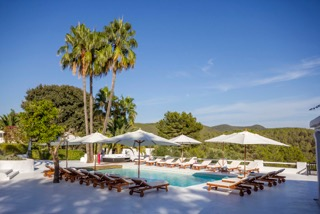 Luxury Family Villas Ibiza Poolside Blue Sky