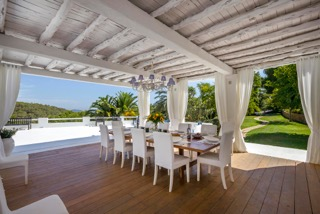 Luxury Family Villas Ibiza Terrace Views
