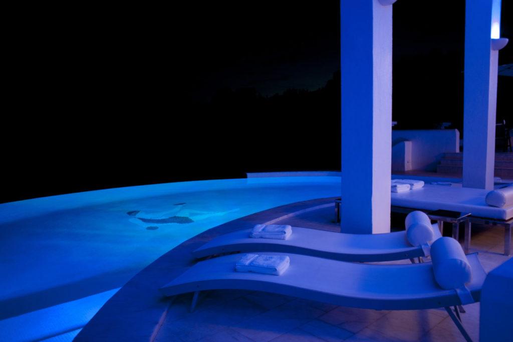 Luxury Pool Night Villa Ibiza Evening View