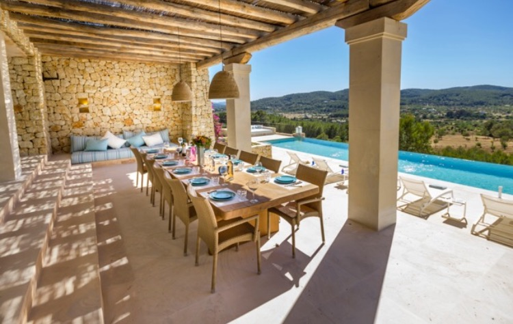 Luxury Villas Spain Ibiza Dining Area Outside