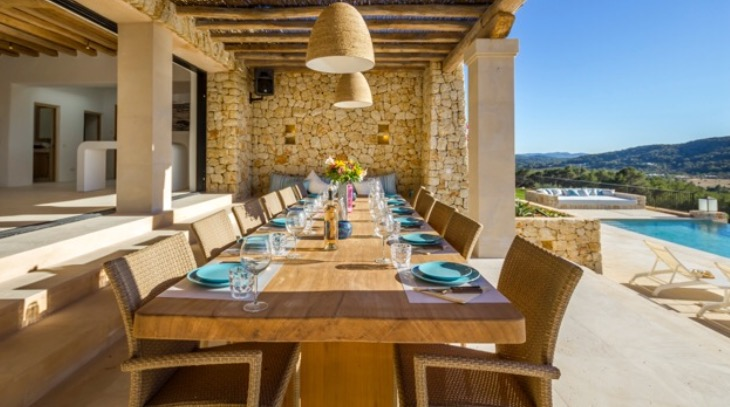 Luxury Villas Spain Ibiza Outside Terrace