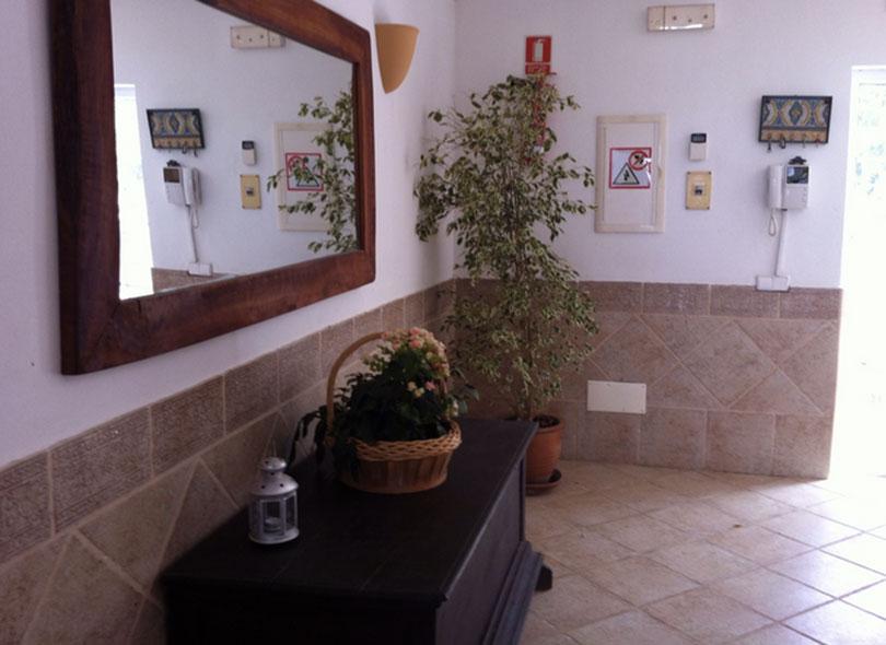Mirror Hallway Ibiza Villa