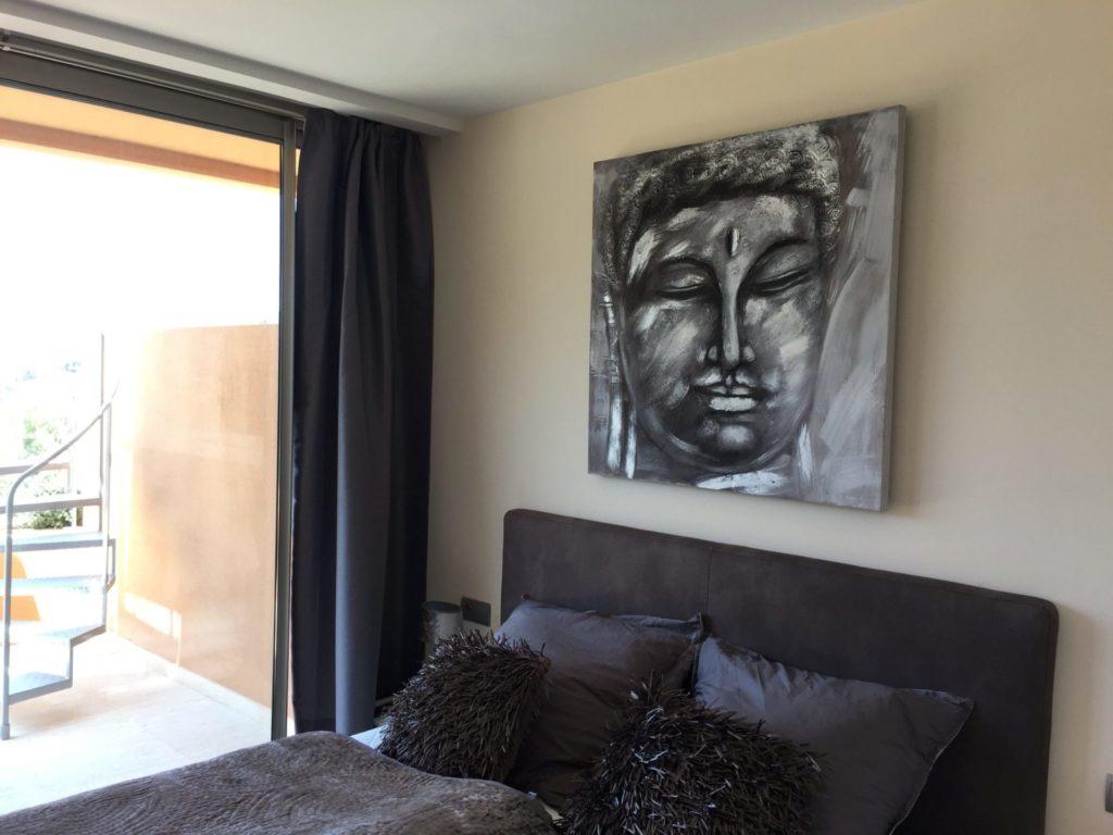Modern Art Ibiza Villa Bedroom