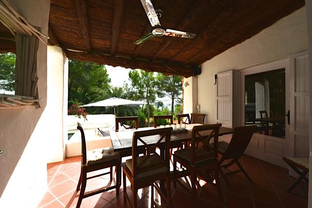 Outdoor Eating Table Luxury Villa Ibiza Style
