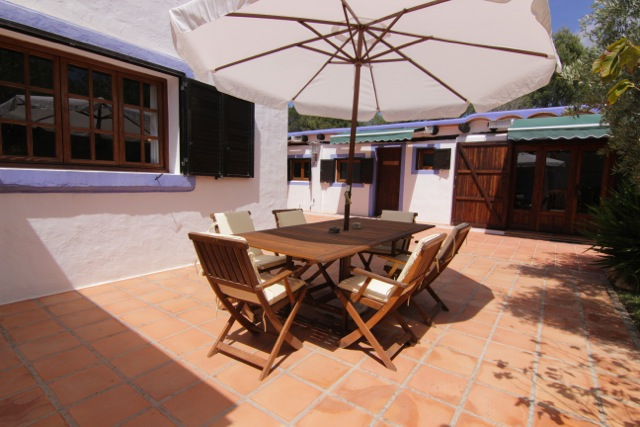 Outdoor Exterior Dining Area Ibiza Villa