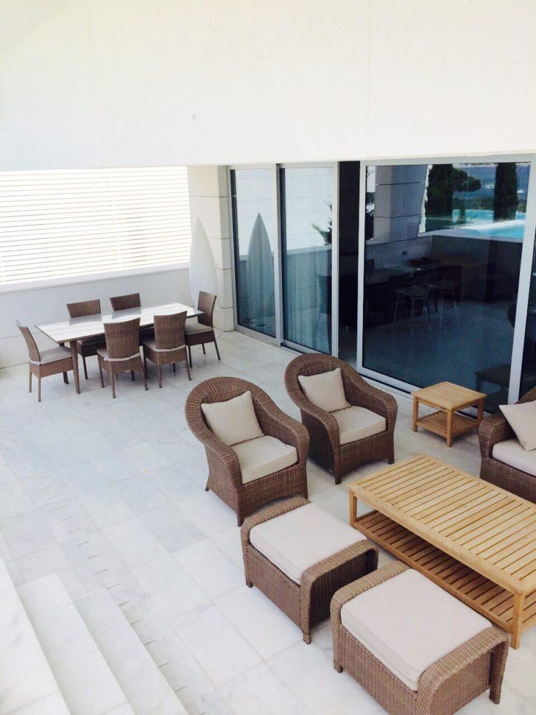 Outdoor Ibiza Villa Contemporary Living Dining Area