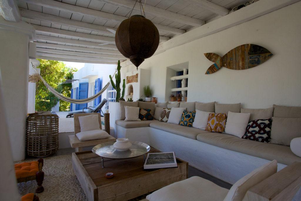 Outdoor Seating Area Rustic Stylish Ibiza Villa
