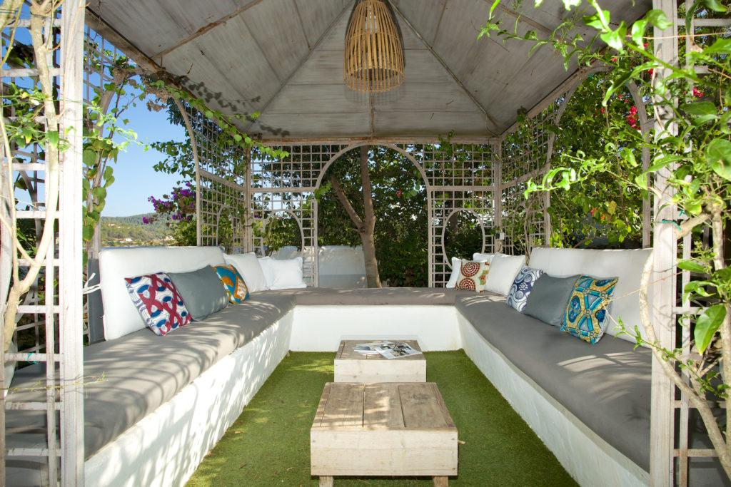 Outdoor Terrace Sitting Area Villa Ibiza Cushions