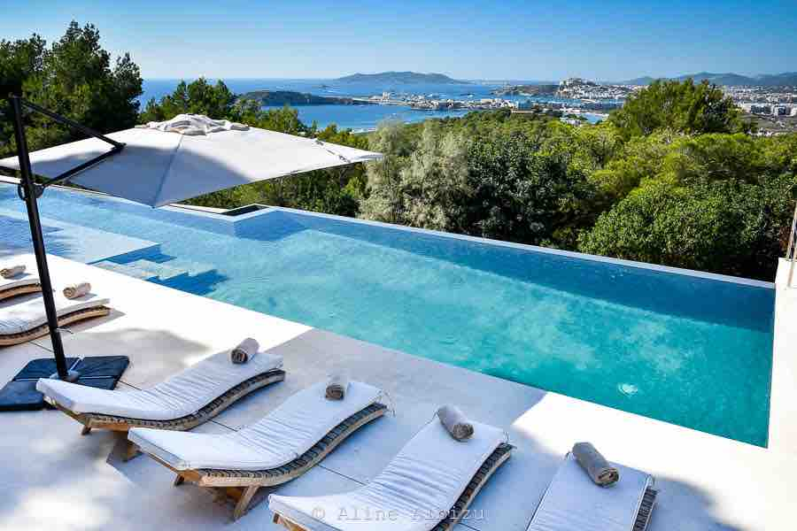 Outstanding Pool Amazing Poolside Sun Loungers Ibiza Villa