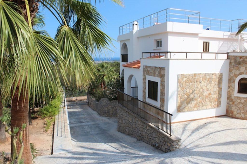 Palm Tree Parking Ibiza Villa Stone Driveway