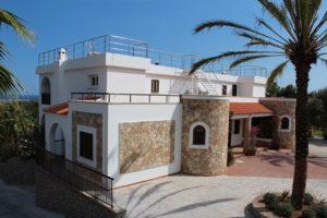 Palm Tree Parking Ibiza Villa Stone Work Terrace