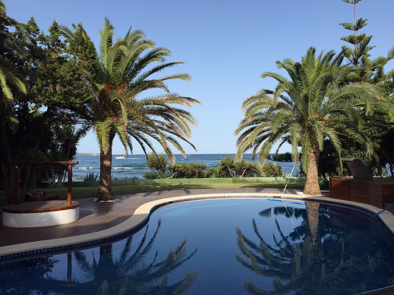 Palm Trees Swimming Pool Tranquil Sea View Ibiza Villa
