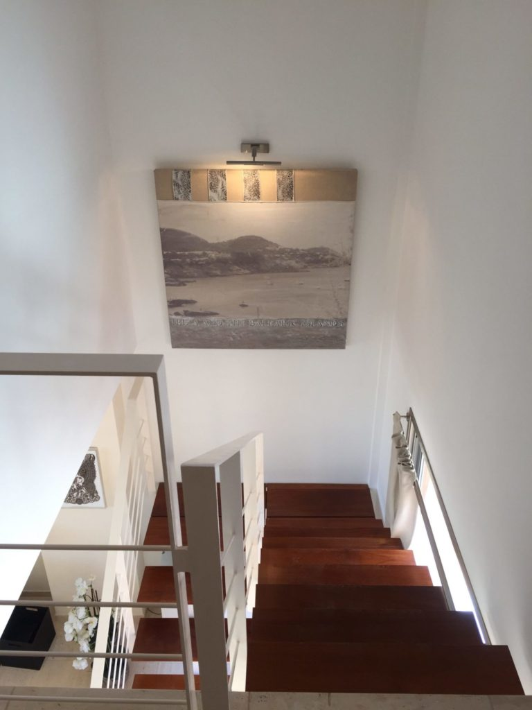 Picture Frame Stairs Ibiza Villa Modern White