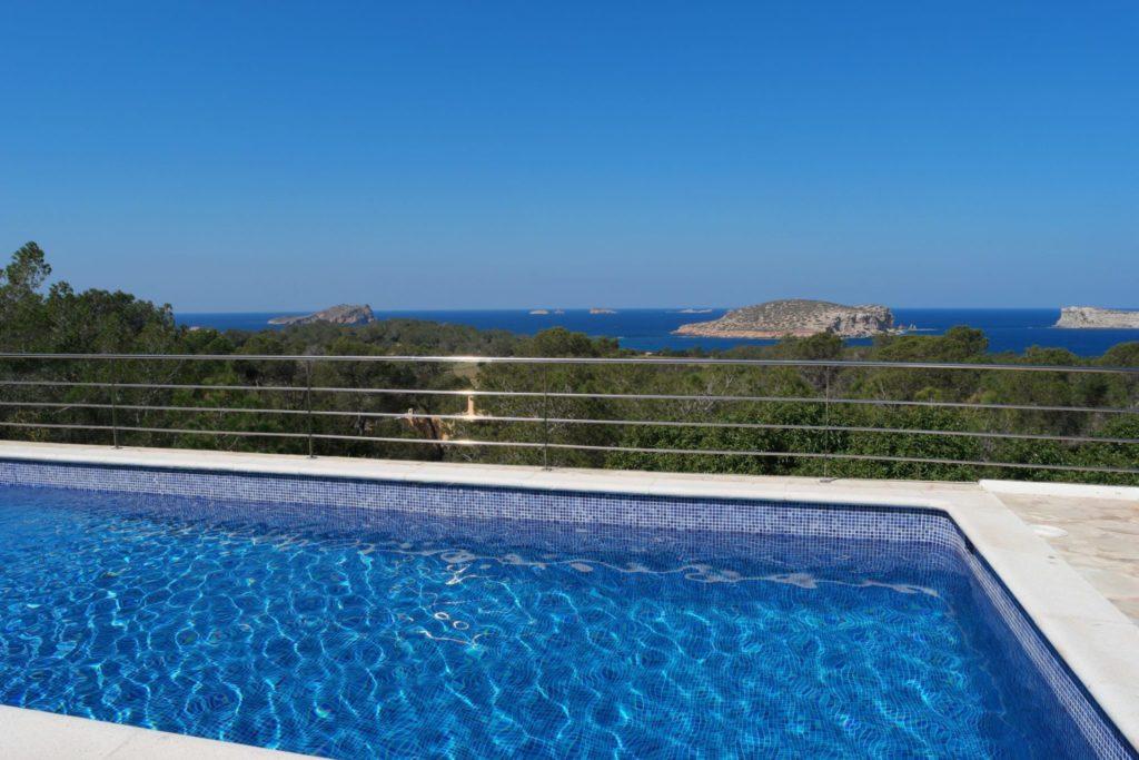 Plant Pool Blue Sky Ibiza Villa