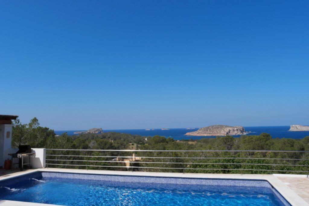 Plant Trees Pool Ibiza Villa Sea View