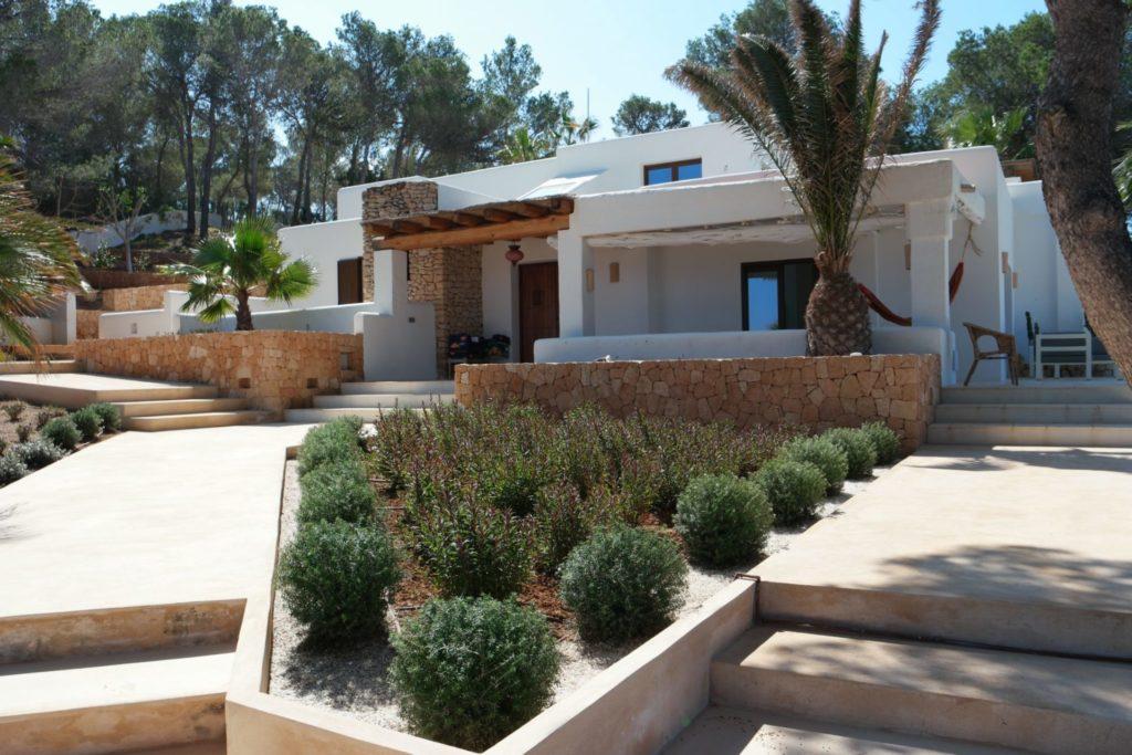 Plants Rustic Villa Steps Entrance Ibiza