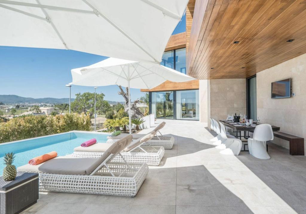 Pool Area Outside Talamanca Ibiza