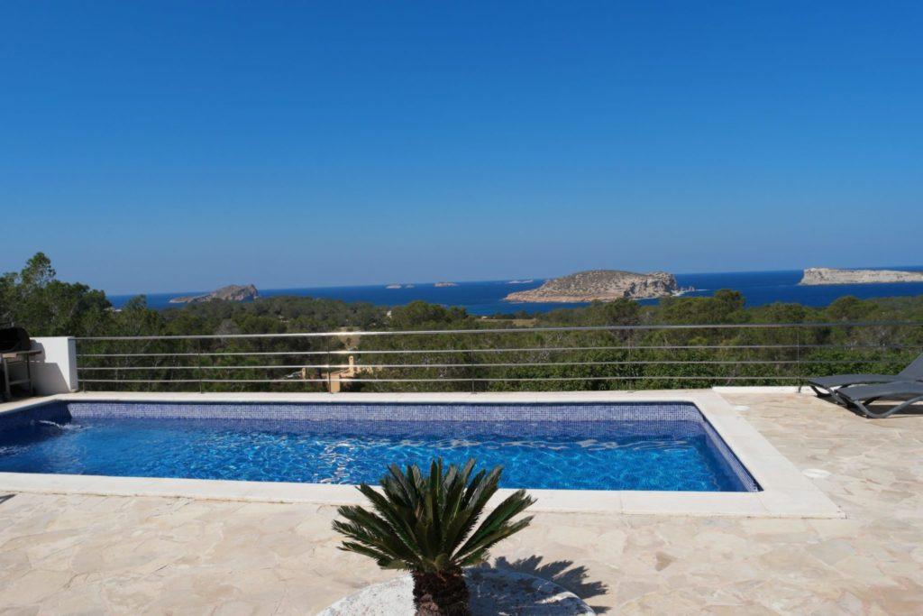 Pool Blue Sky Ibiza Villa Plant