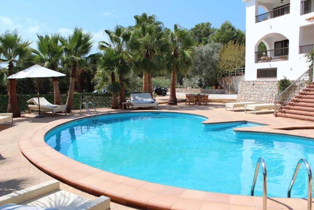 Pool Clubs Swimming Relax Blue Ibiza Villa