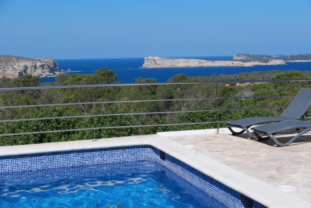 Pool Ibiza Villa Sea Trees View Plant