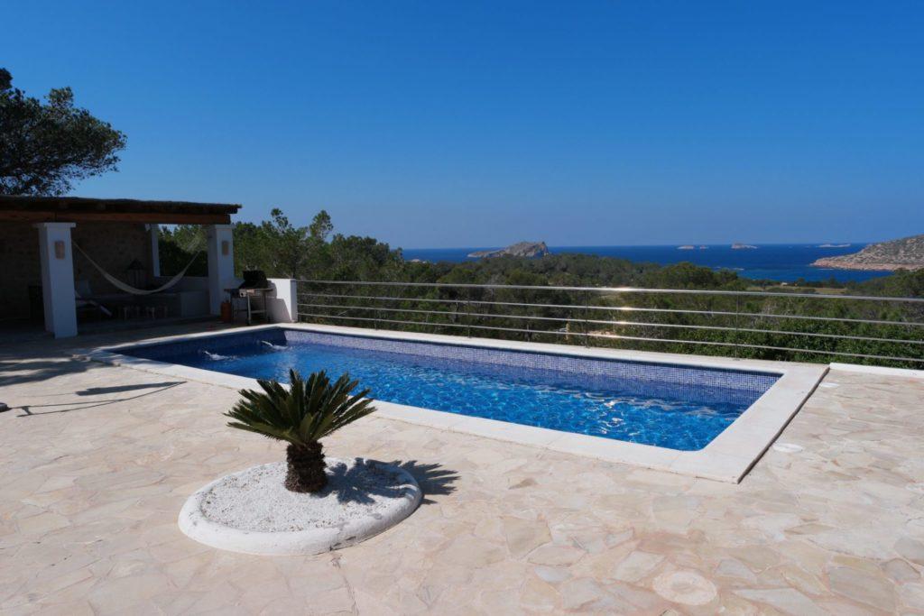 Pool Ibiza Villa Sea View Plant Trees