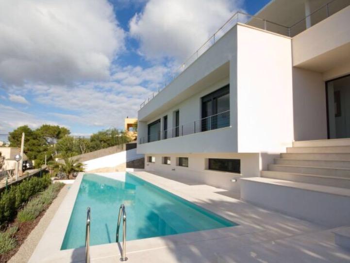 Pool Stunning White Ibiza Villa Exterior