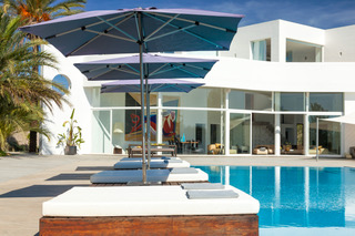 Pool Villa Relaxing Outside Sun Ibiza Luxury Vip