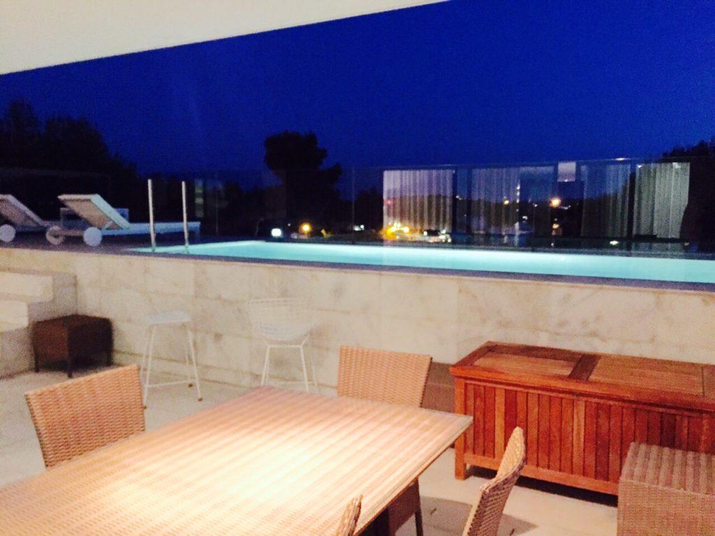 Poolside Modern Contemporary Ibiza Villa Luxury Exterior