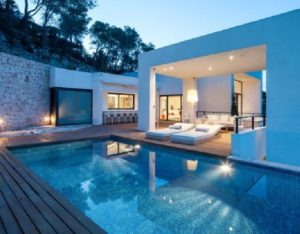 Poolside Outdoor Exterior Villa Cube Style Gorgeous