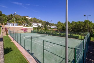 Private Villas In Ibiza Town Porroig Tennis Court