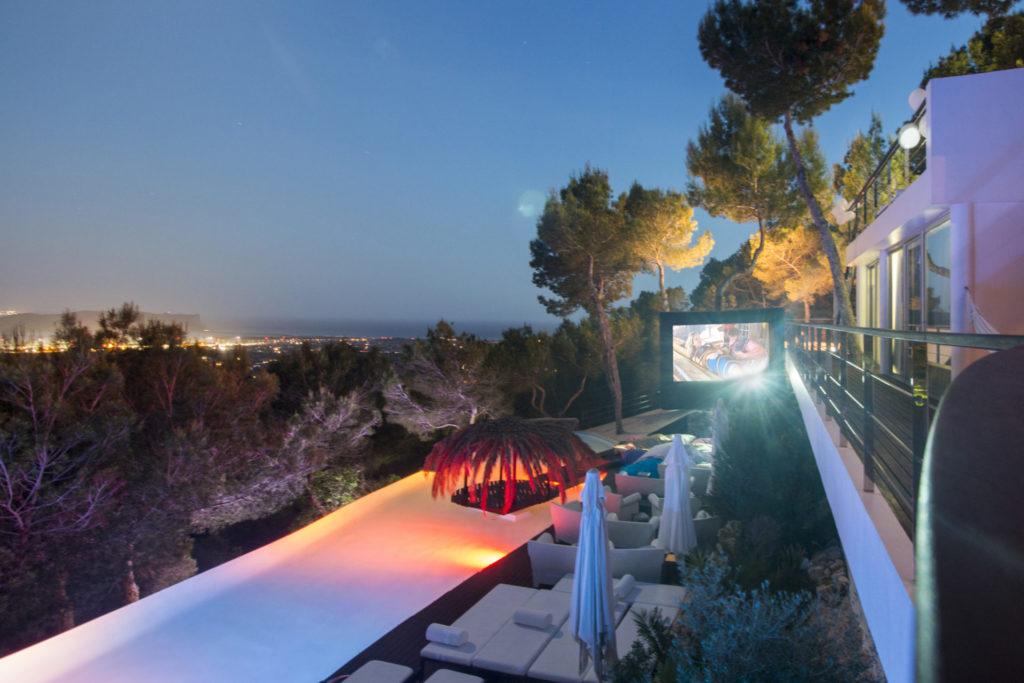 Roca Outdoors Cinema Exclusive Events Luxury Villa Ibiza