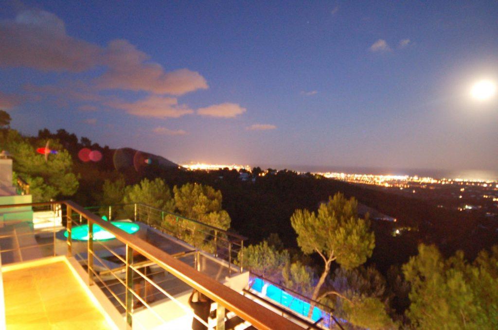Roca Pool Night Ibiza Villa Sky Sunset Luxury