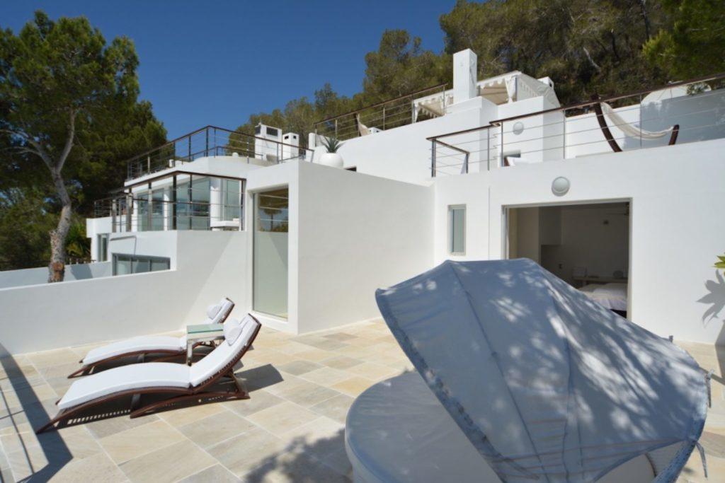 Roca Terrace Looking North Ibiza Villa