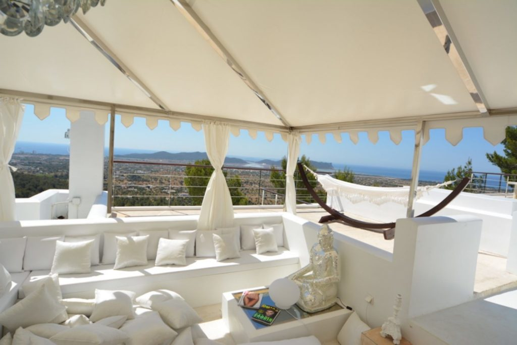 Roof Top Chill Out Tent Ibiza Villa Sunset Sunrise