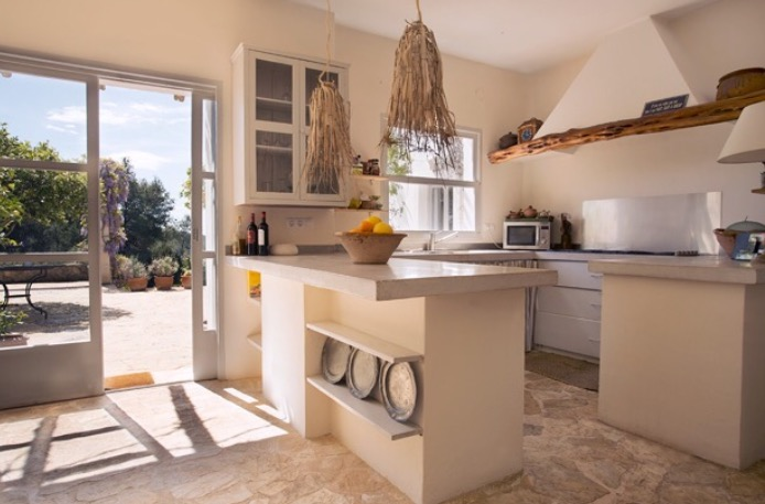 Room Interior Villa Ibiza Finca Kitchen Style Rustic Beautiful Cosy Living