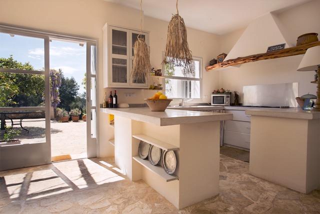 Rustic Classic Kitchen Finca Style Ibiza Villa