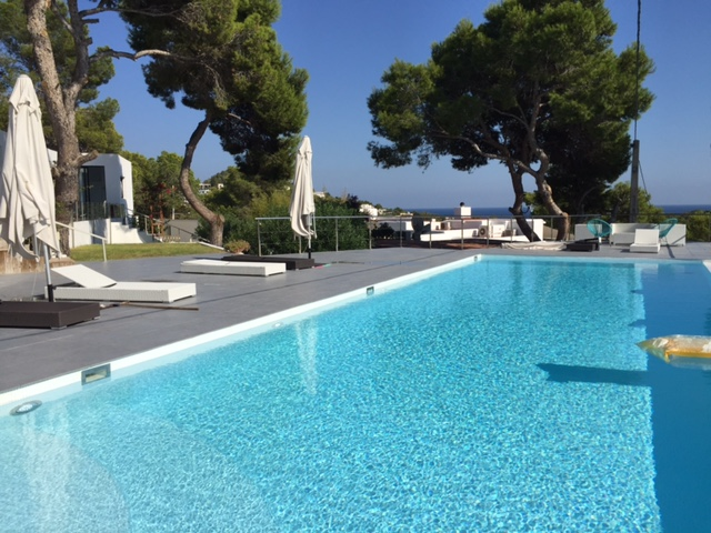 Sea Luxury View Contemporary Villa Poolside