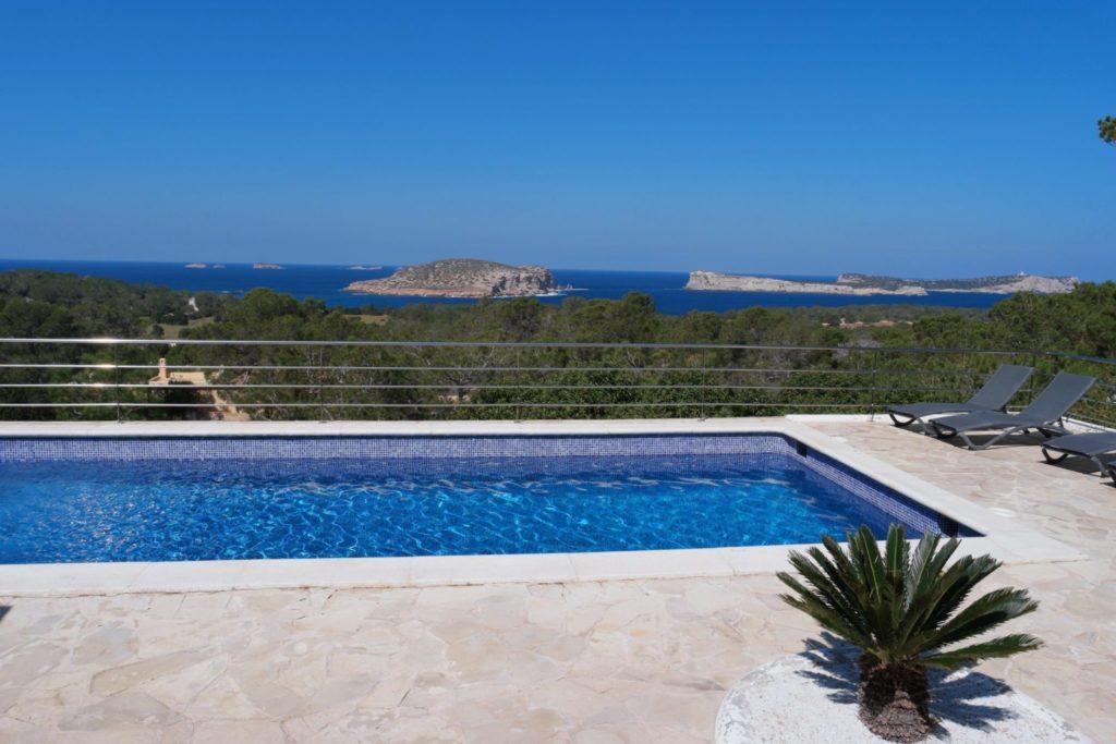 Sea View Plant Trees Pool Ibiza Villa