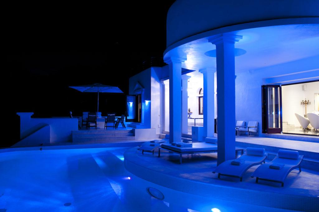 Side Blue Evening Ibiza Villa Lights Exclusive