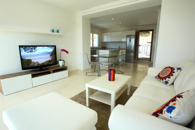 Sitting Room Ibiza Villa Tv White