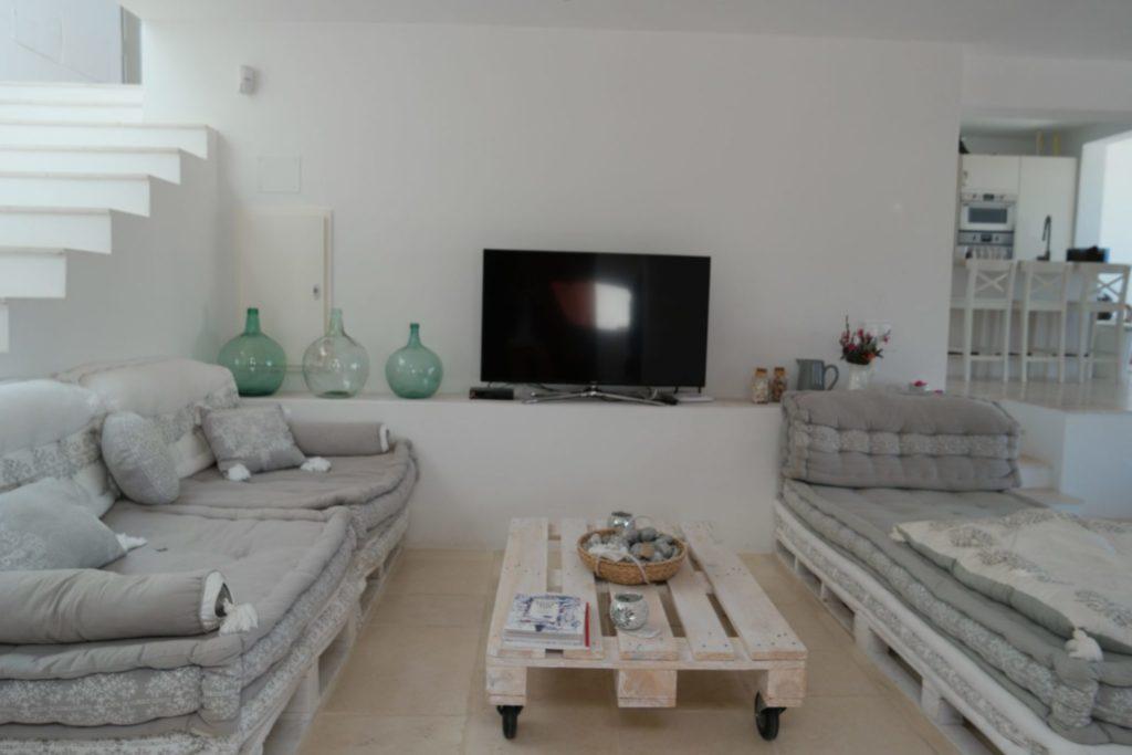 Sitting Tv Ibiza Room Sofa View Sea Villa