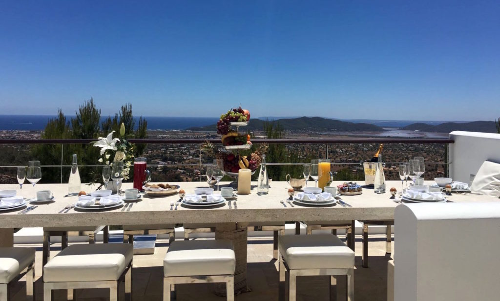 Sky Lounge Breakfast Ibiza Villa