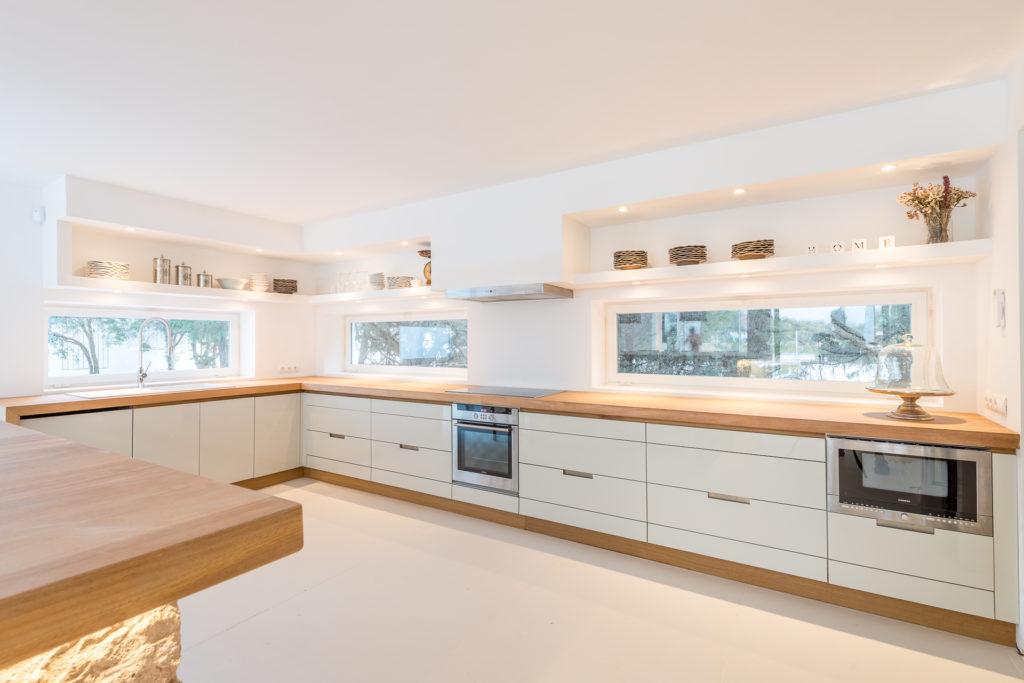 Spacious Kitchen Ibiza Villa Interior Stylish Living